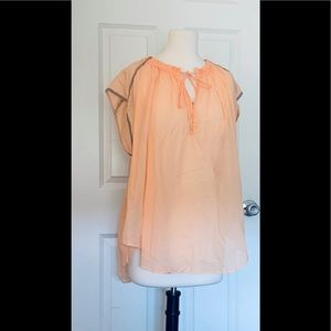 We the free apricot blouse XS new